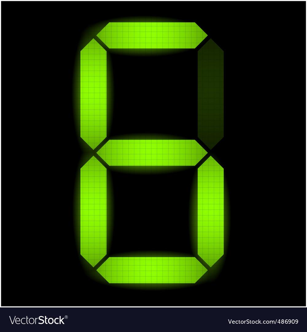 Digital number six vector image