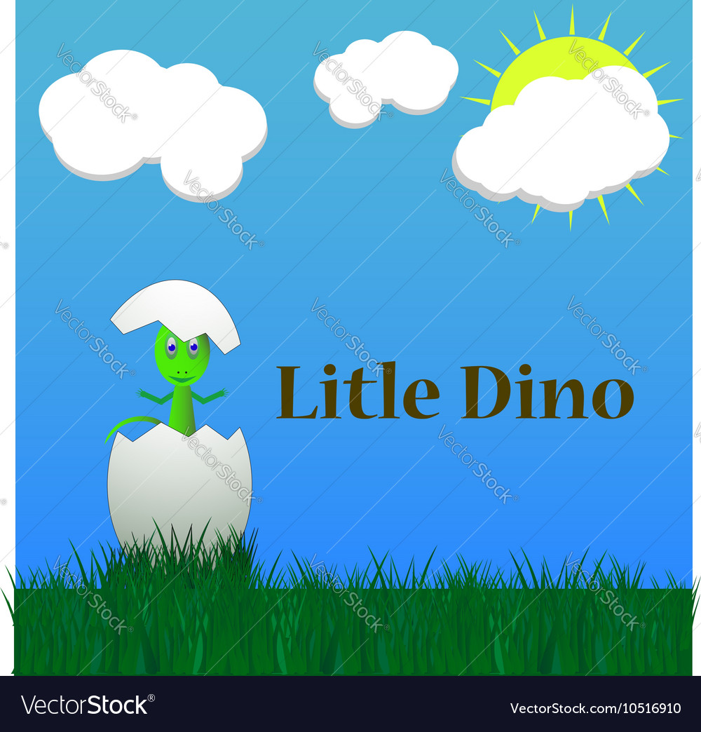 Little dinosaur birth vector image
