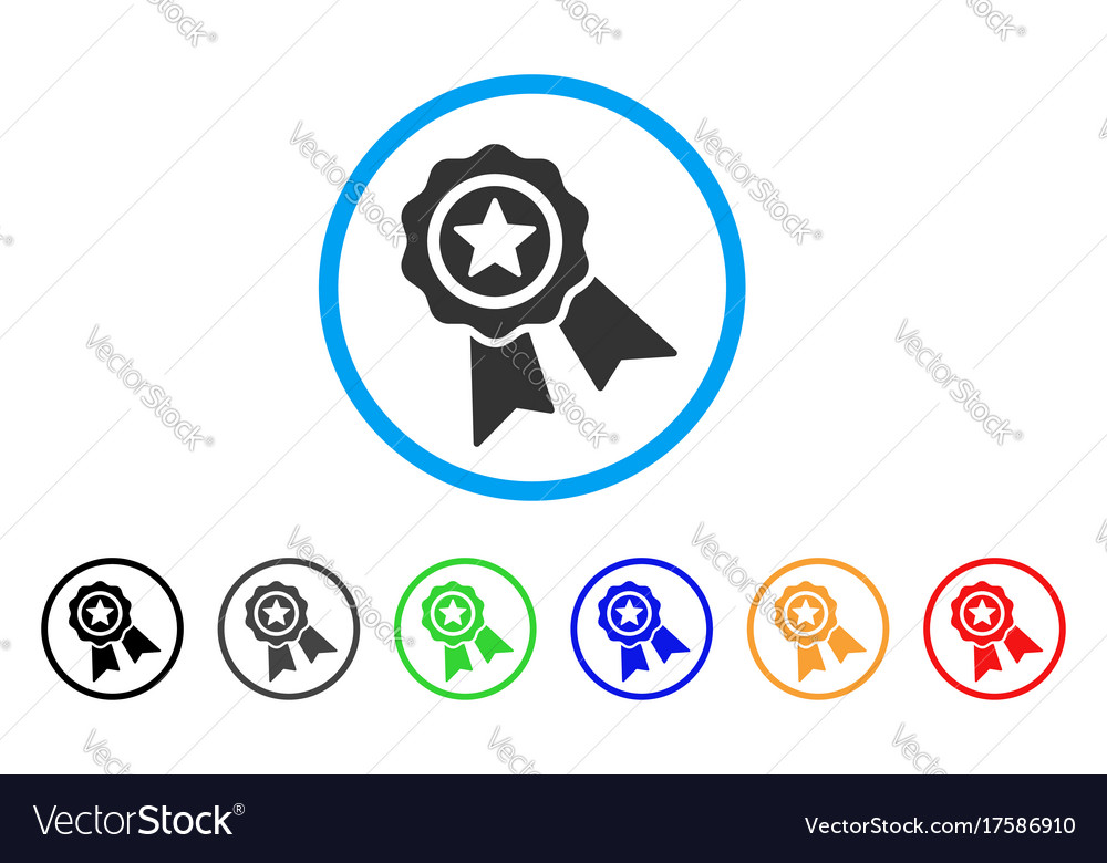 Star quality seal rounded icon vector image