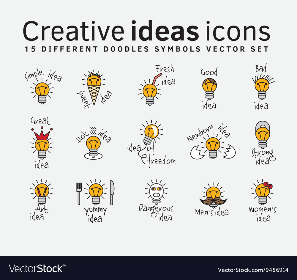 Creative ideas color flat icons symbols set vector image biocorpaavc Images