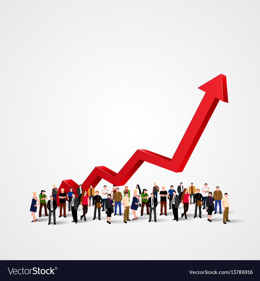 Growth chart and progress in people crowd vector image growth chart and progress in people crowd vector image nvjuhfo Gallery
