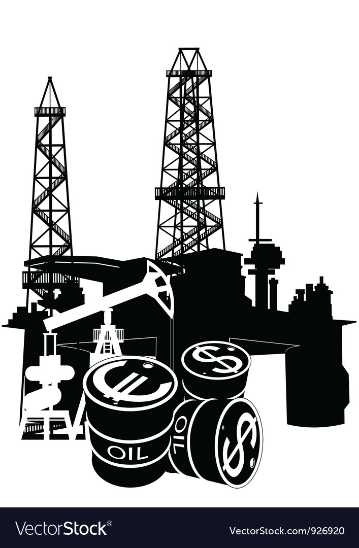 Production and sale of petroleum vector image