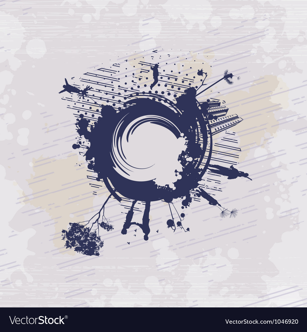 Jumping on abstract painting vector image