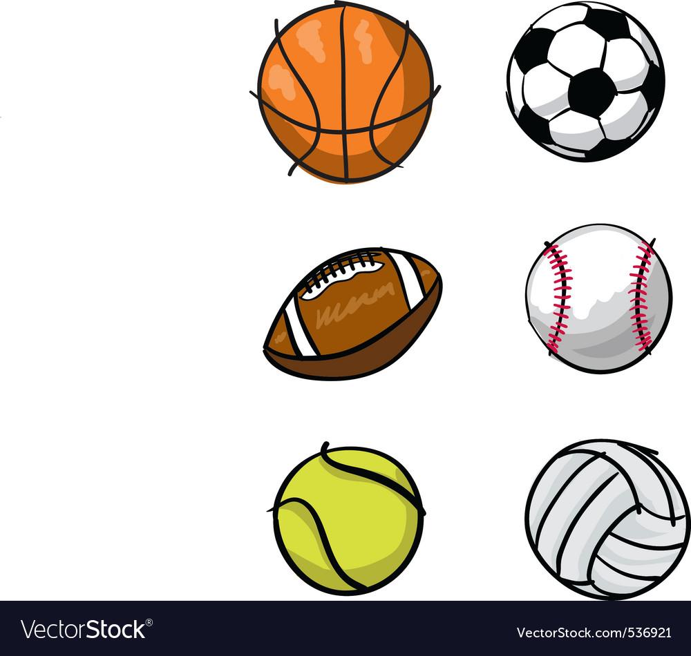 Kids sports balls vector image