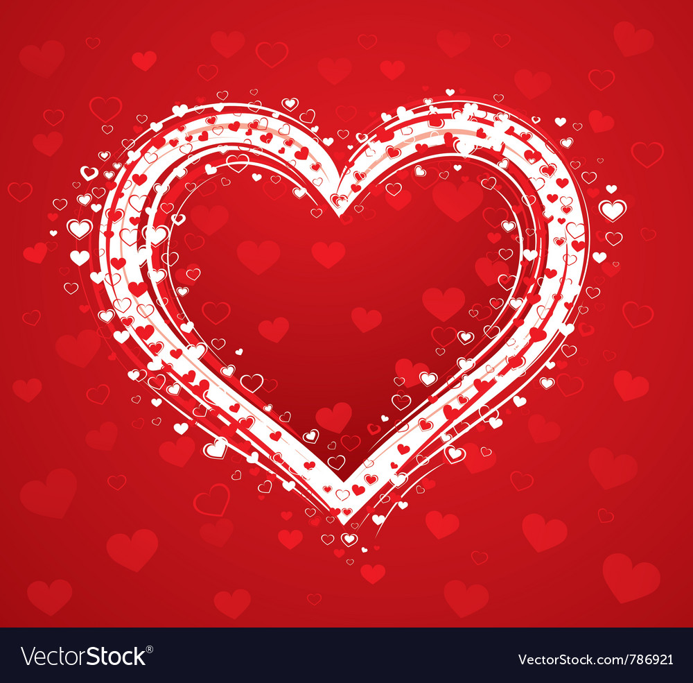 Decorative love heart vector image