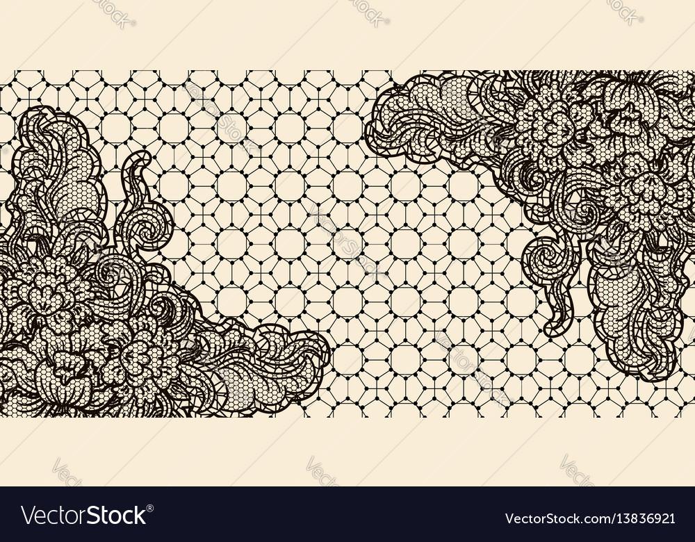 Lace card horizontal sample invitation template vector image