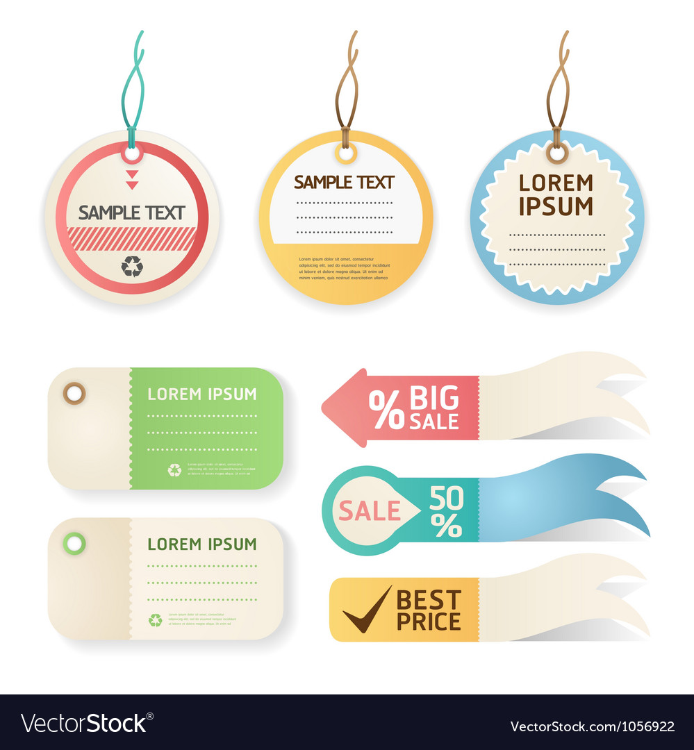Price tag Pastel color Vector Image