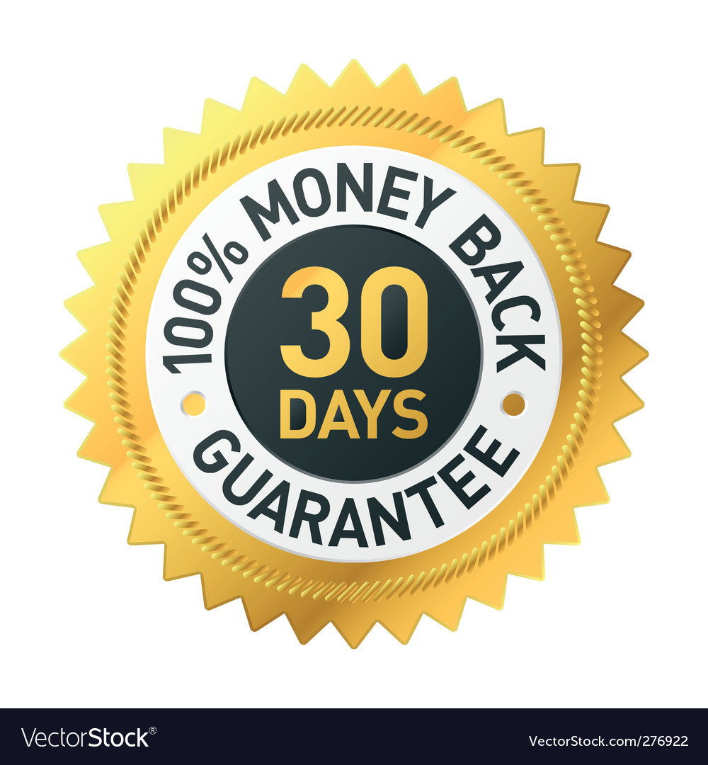 30 days Money back label vector image