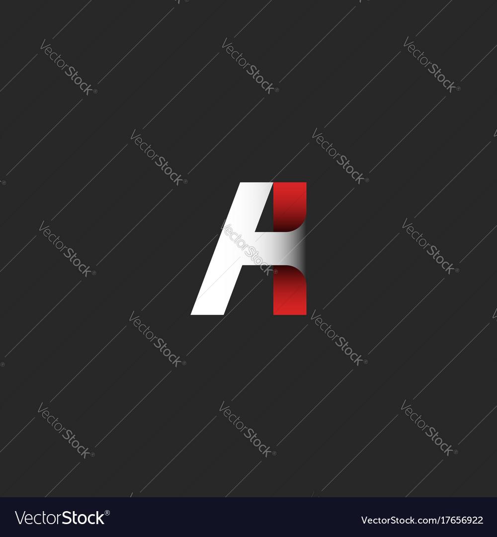 Creative letter a logo gradient color modern vector image