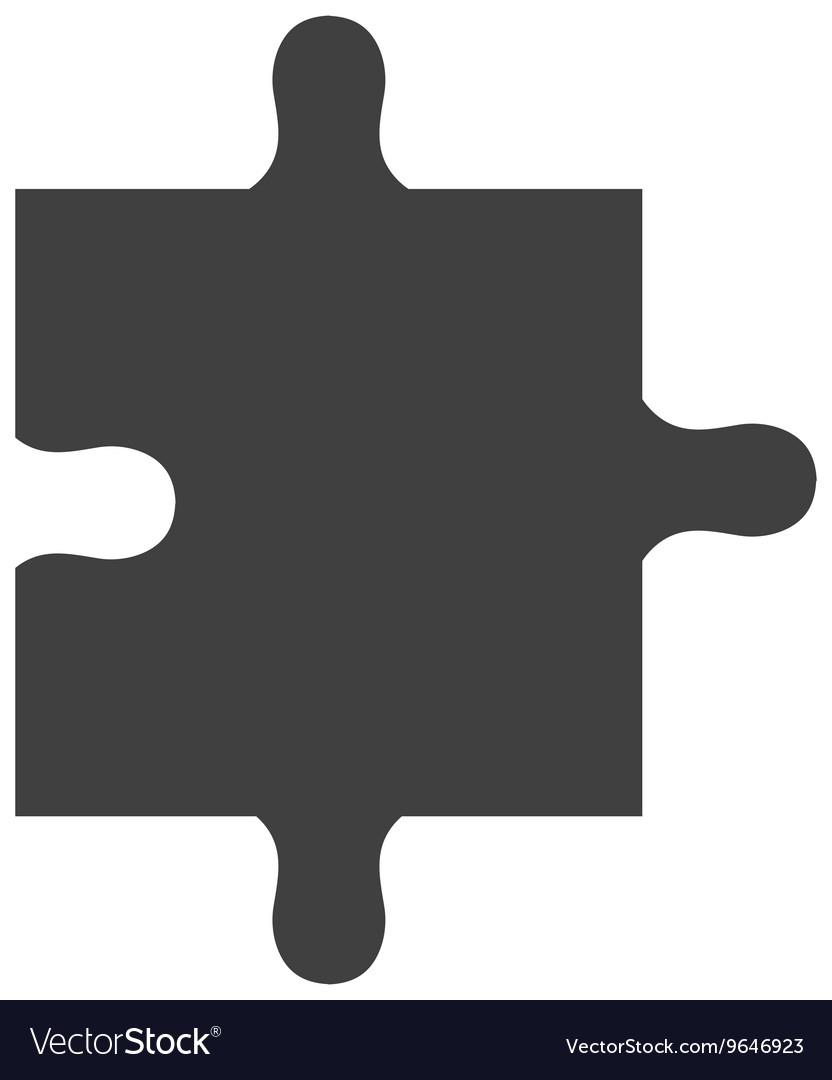 Black puzzle piece graphic vector image