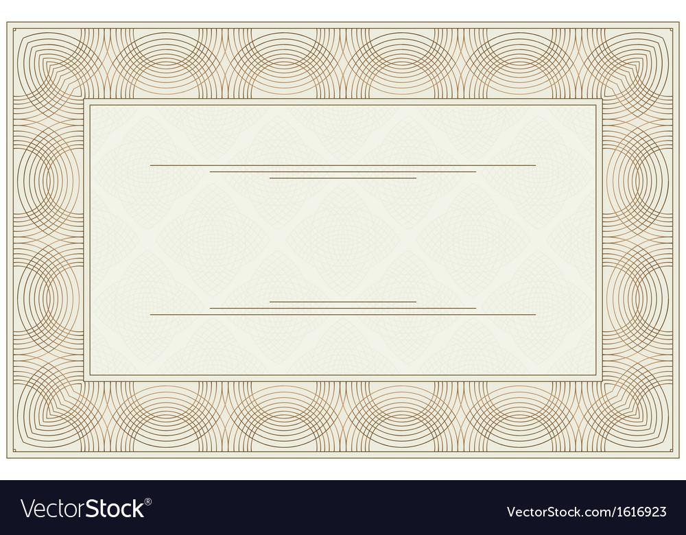Blank Voucher Royalty Free Vector Image  Vectorstock
