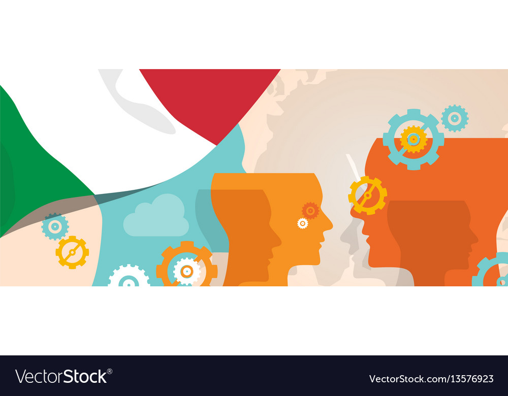Italy concept of thinking growing innovation vector image