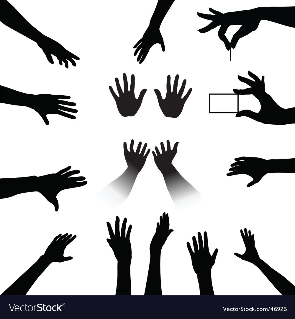 Friendship silhouettes vector image