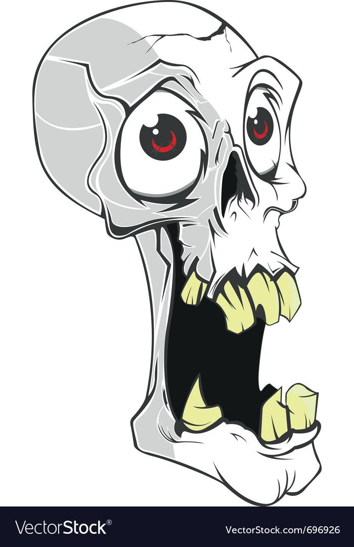 Skull small vector image