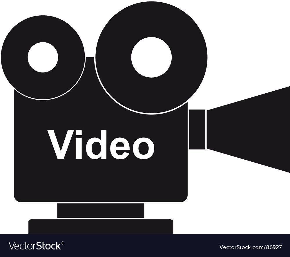 Film projector vector image