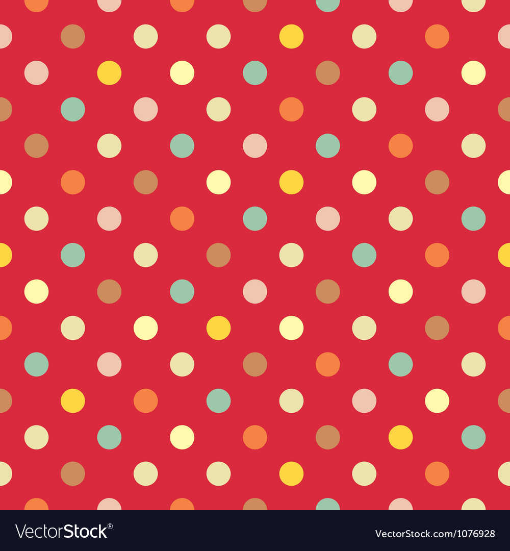 Polka dots seamless pattern Vector Image
