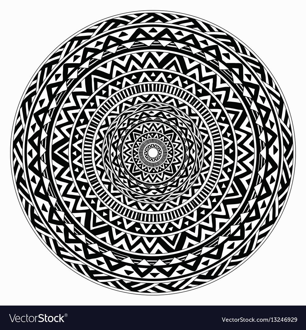 Tribal folk aztec geometric pattern in vector image