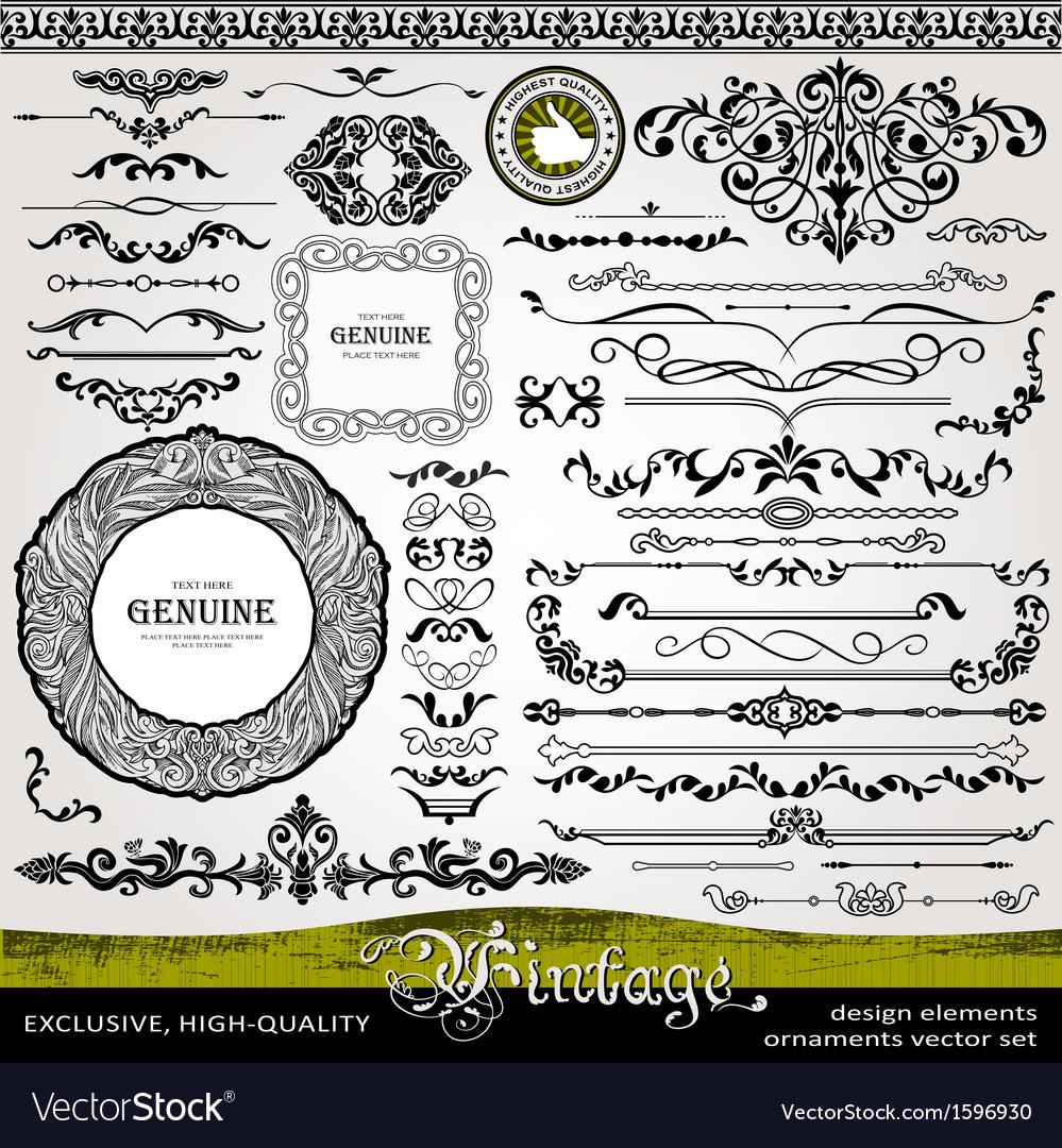 Vintage style design elements vector image