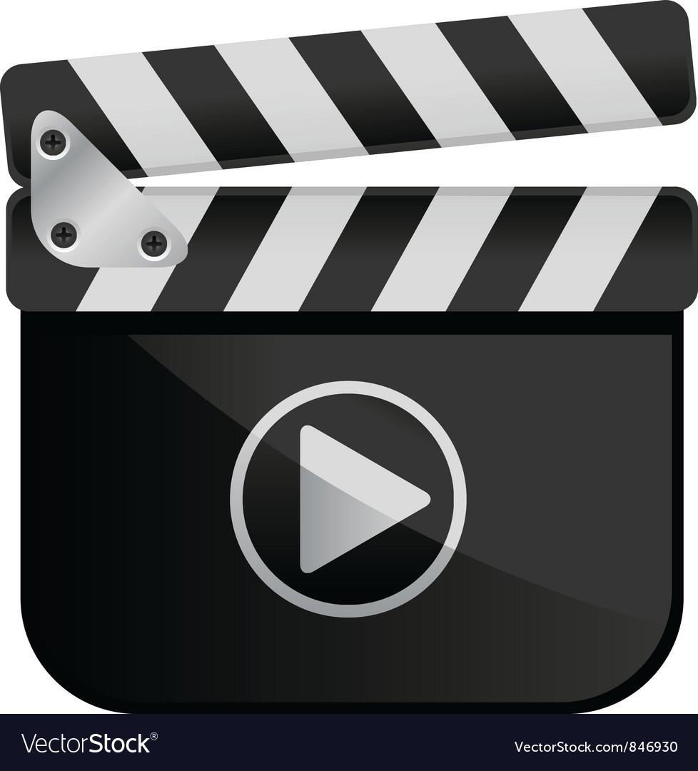 Movie Media Player Film Slate vector image