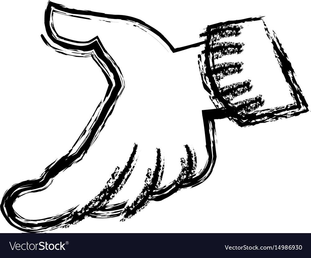 Hand graffiti art comic style icon vector image