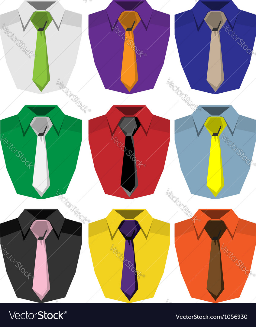 Men shirt vector image