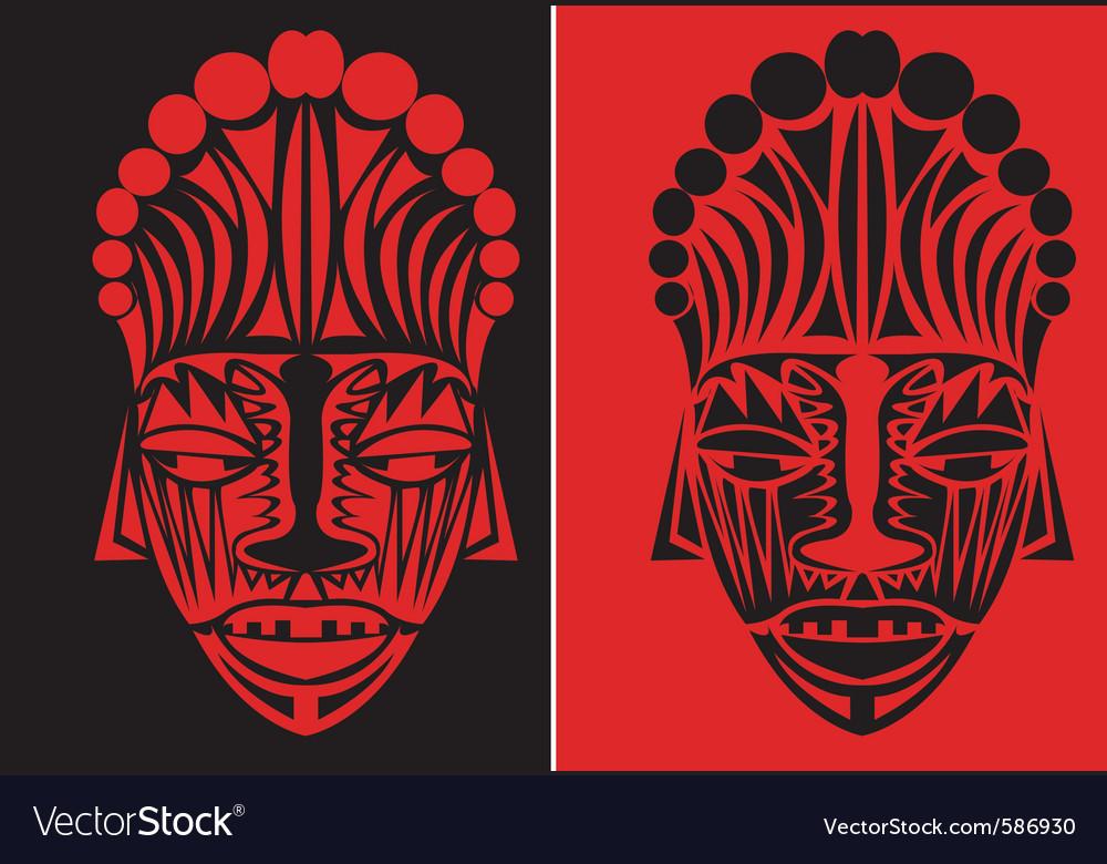 Tribal face art vector image
