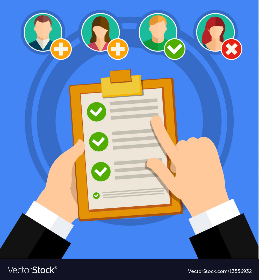 Candidate qualification job interview vector image