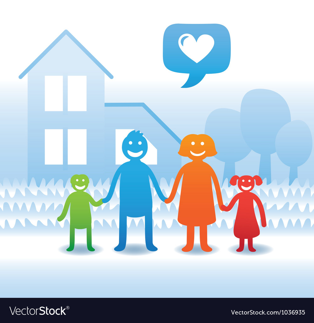 Family concept vector image