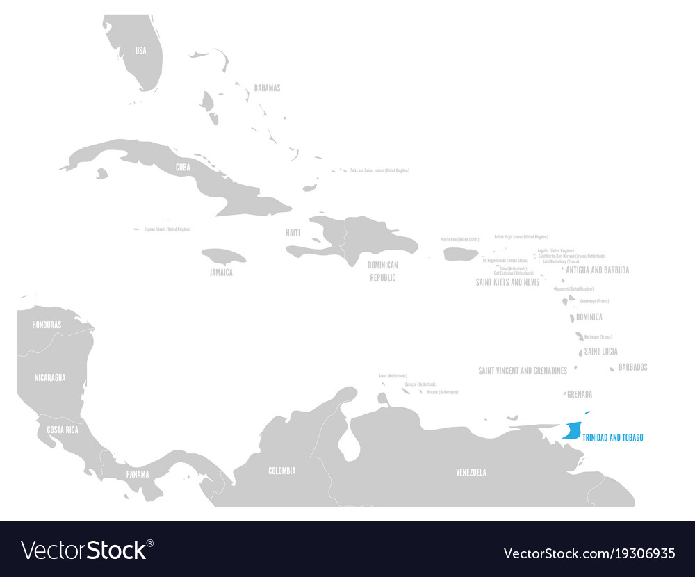 Bahamas blue marked in the map of caribbean vector image gumiabroncs Images