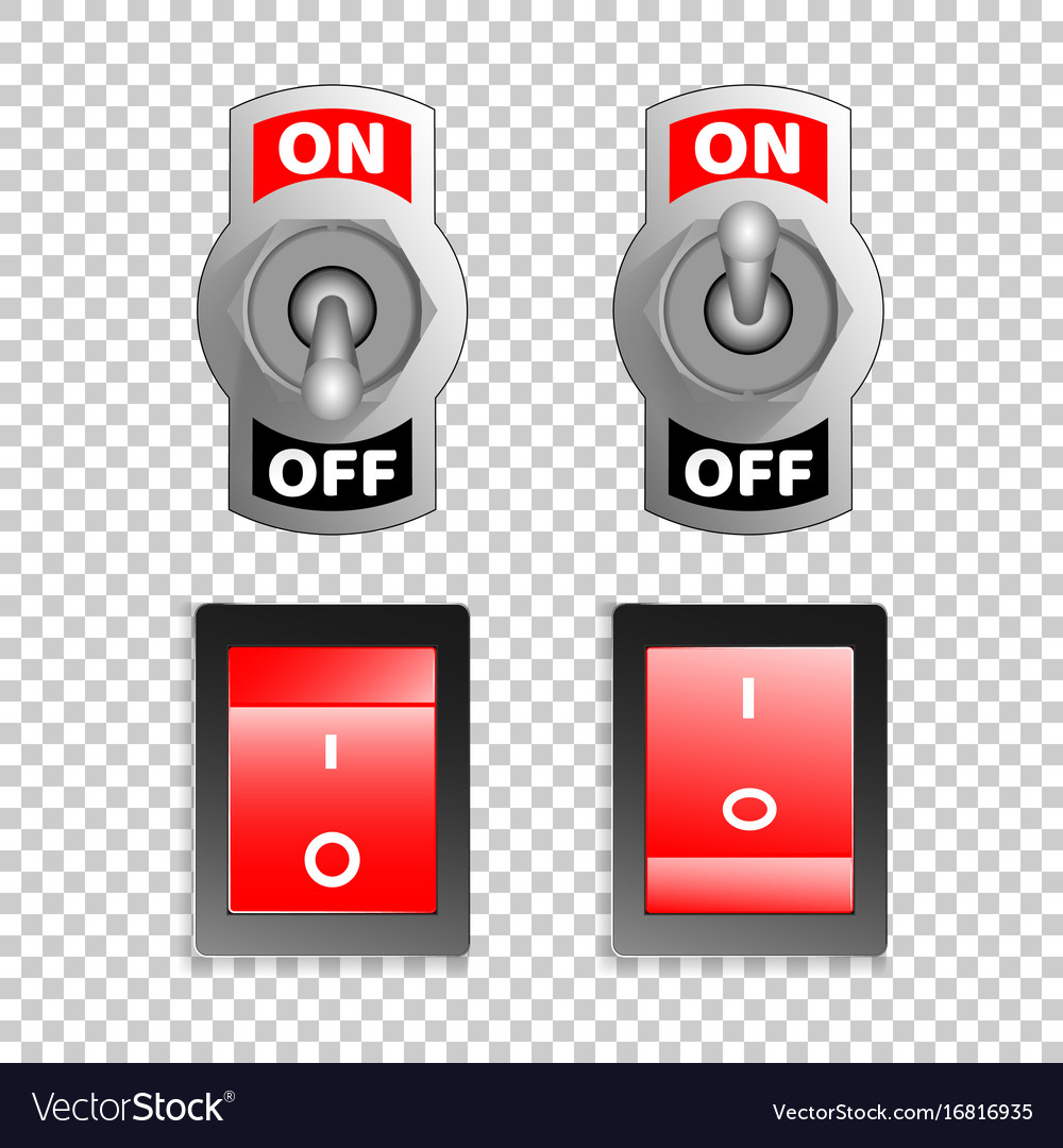 Electric switch buttons on off position 3d vector image biocorpaavc Images