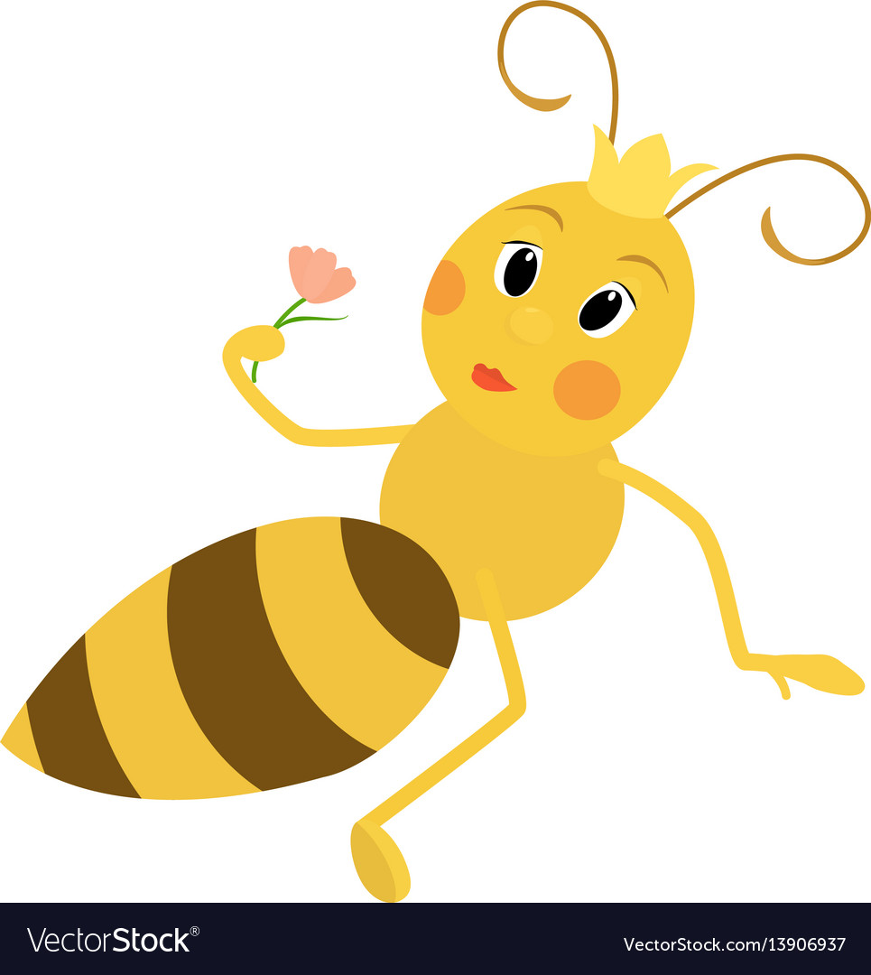 A cute queen bee vector image