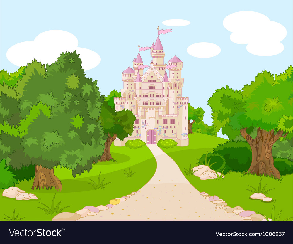 Castle on hill vector image