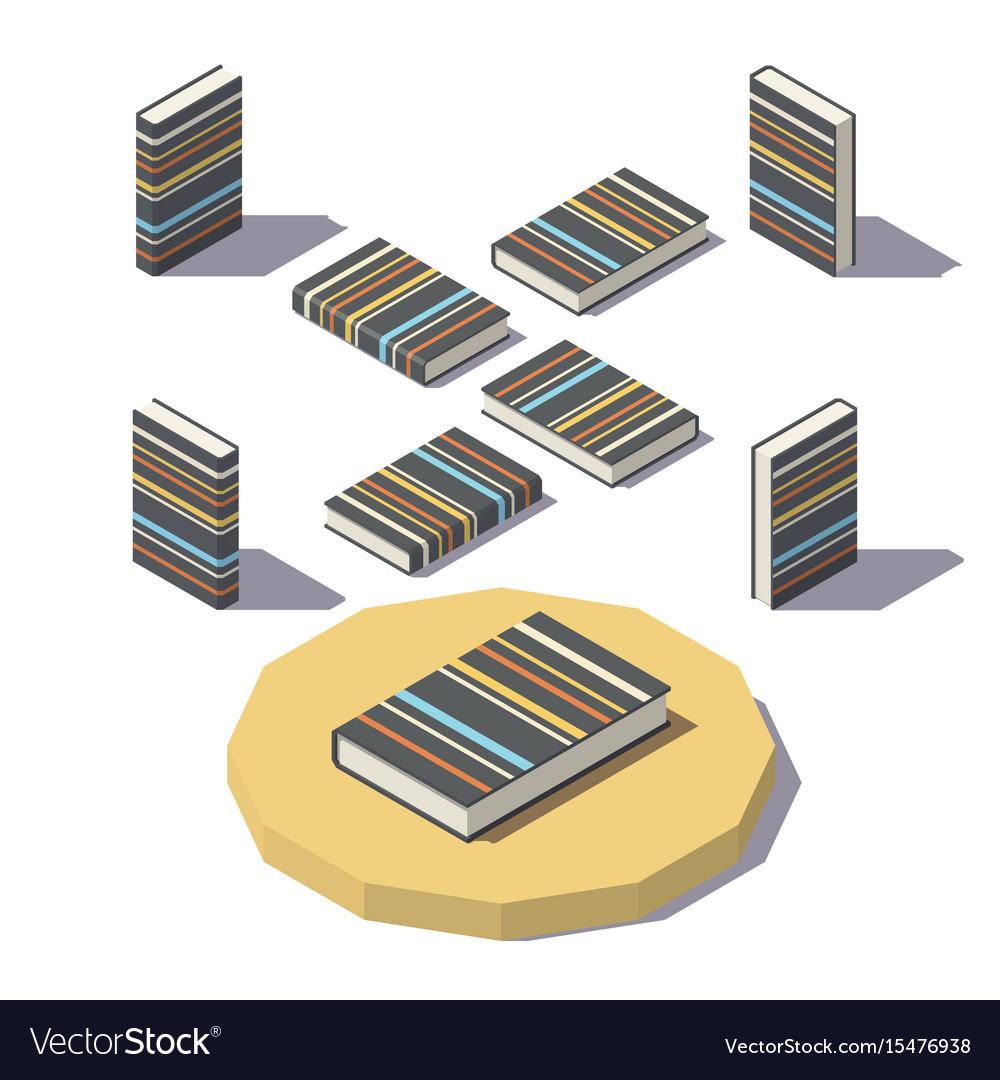 Isometric stripe print book vector image