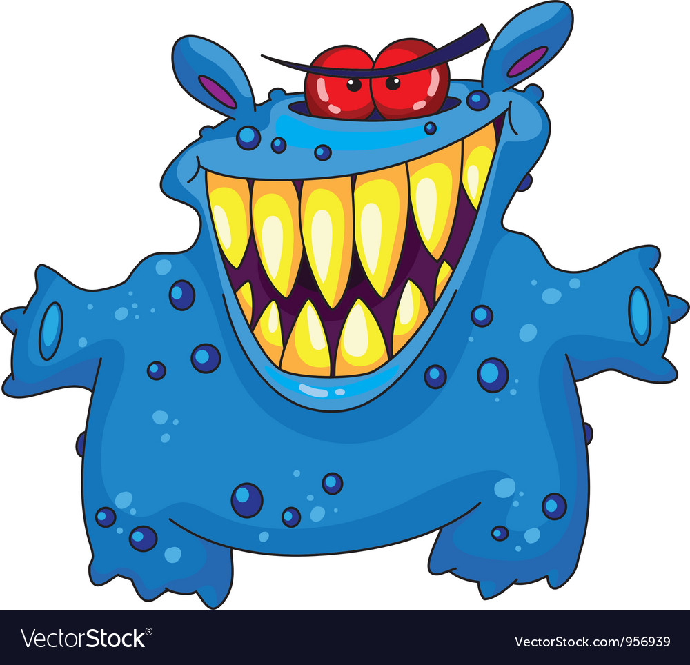 Laughing monster vector image