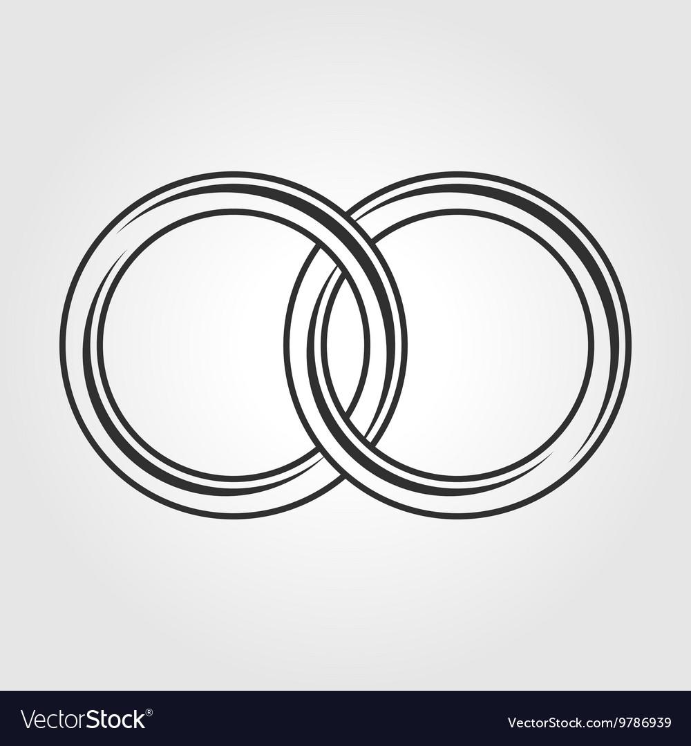 Wedding Ring Icon Royalty Free Vector Image