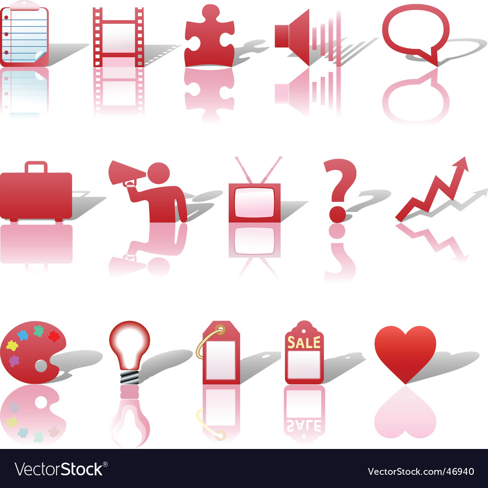Communications media icons vector image