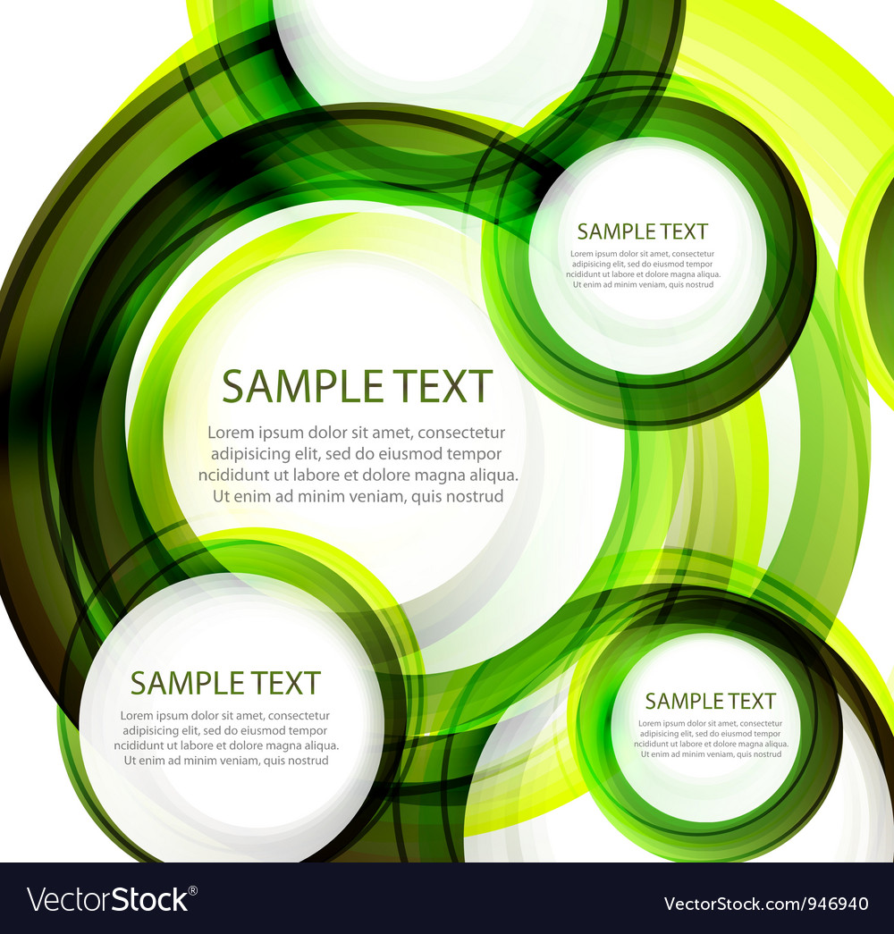 Green abstract swirl banner Vector Image