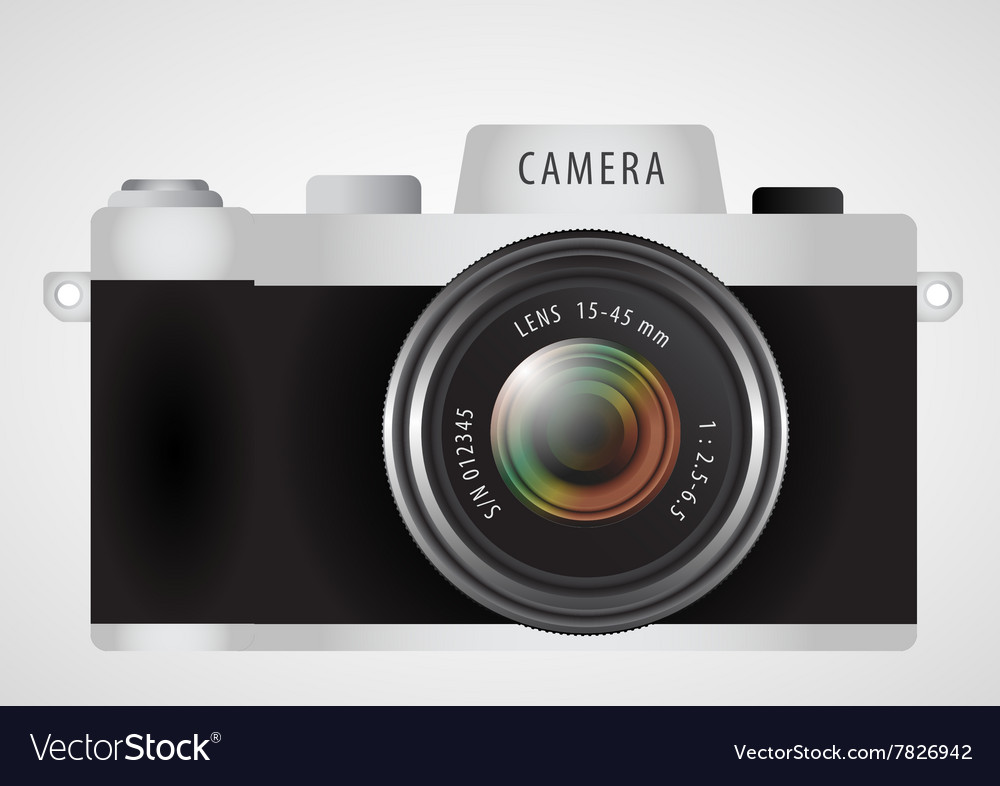 Mirrorless interchangeable lens digital photo vector image