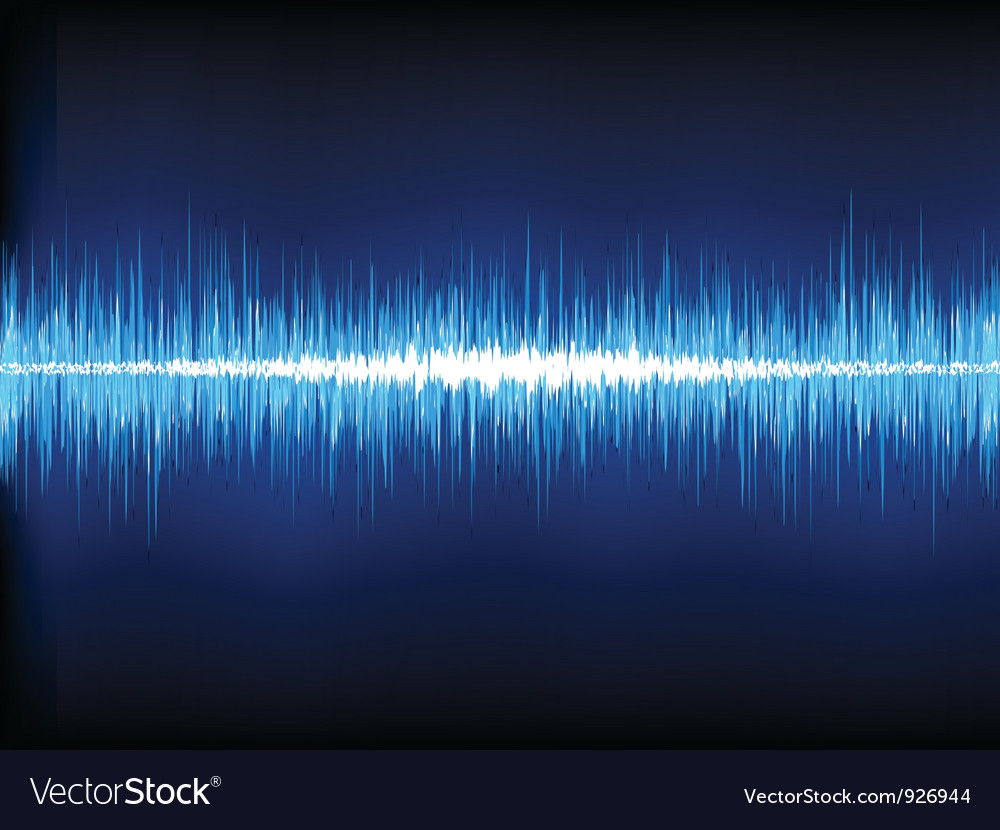 Sound waves oscillating vector image