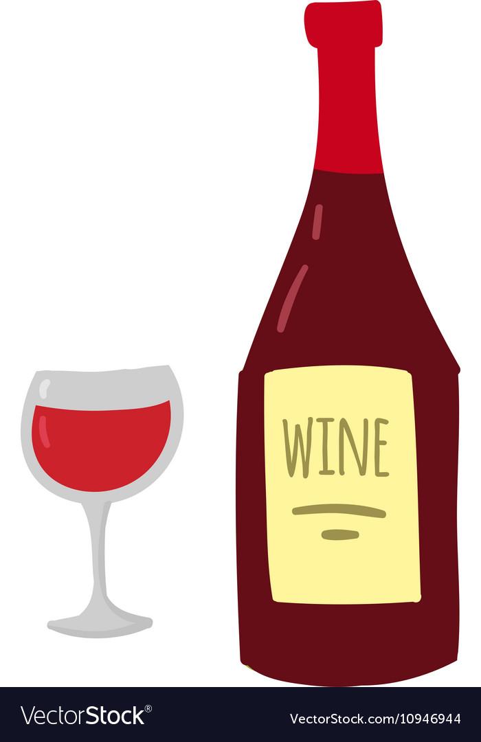 Glass wine vector image