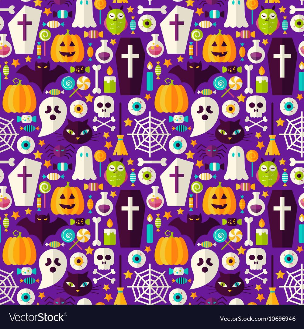 Happy Halloween Seamless Background vector image