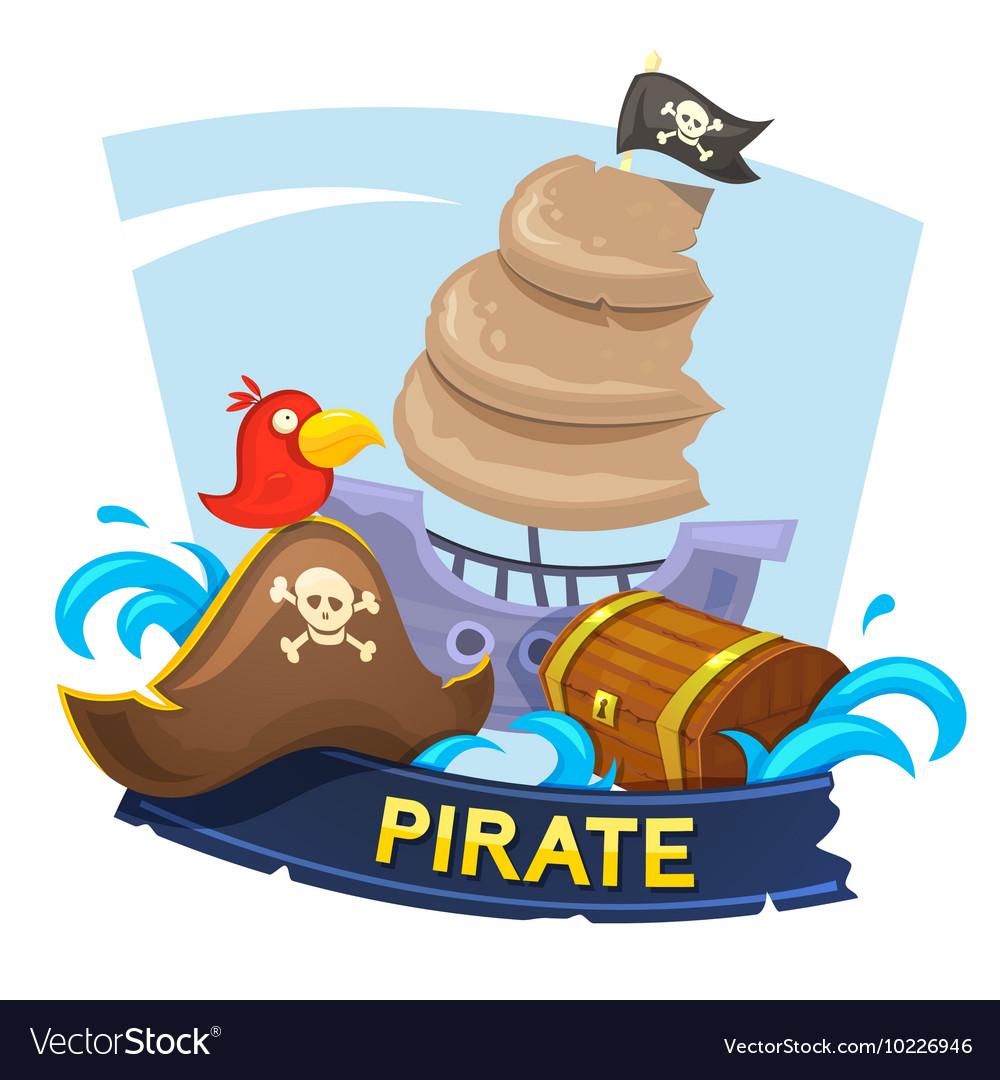 Pirate concept design vector image