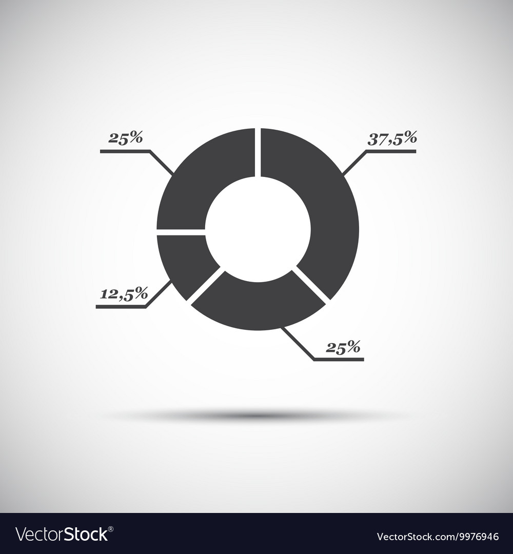 Simple circle diagram vector image