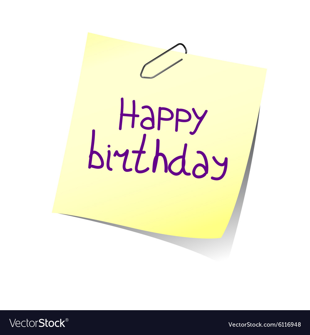 Reminder happy birthday color vector image