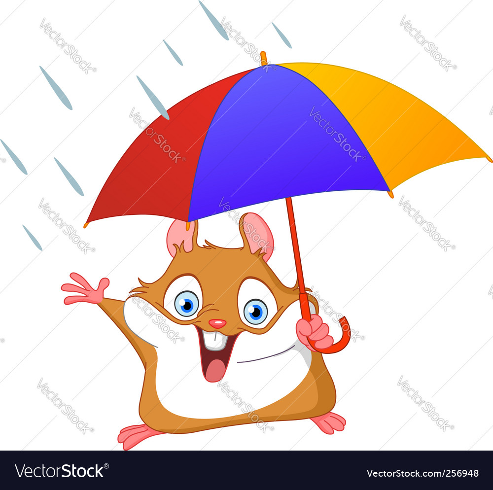 Winter hamster vector image