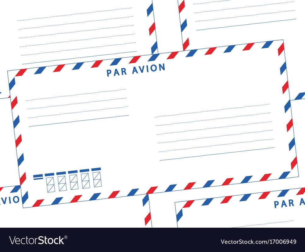 Envelope seamless pattern vector image
