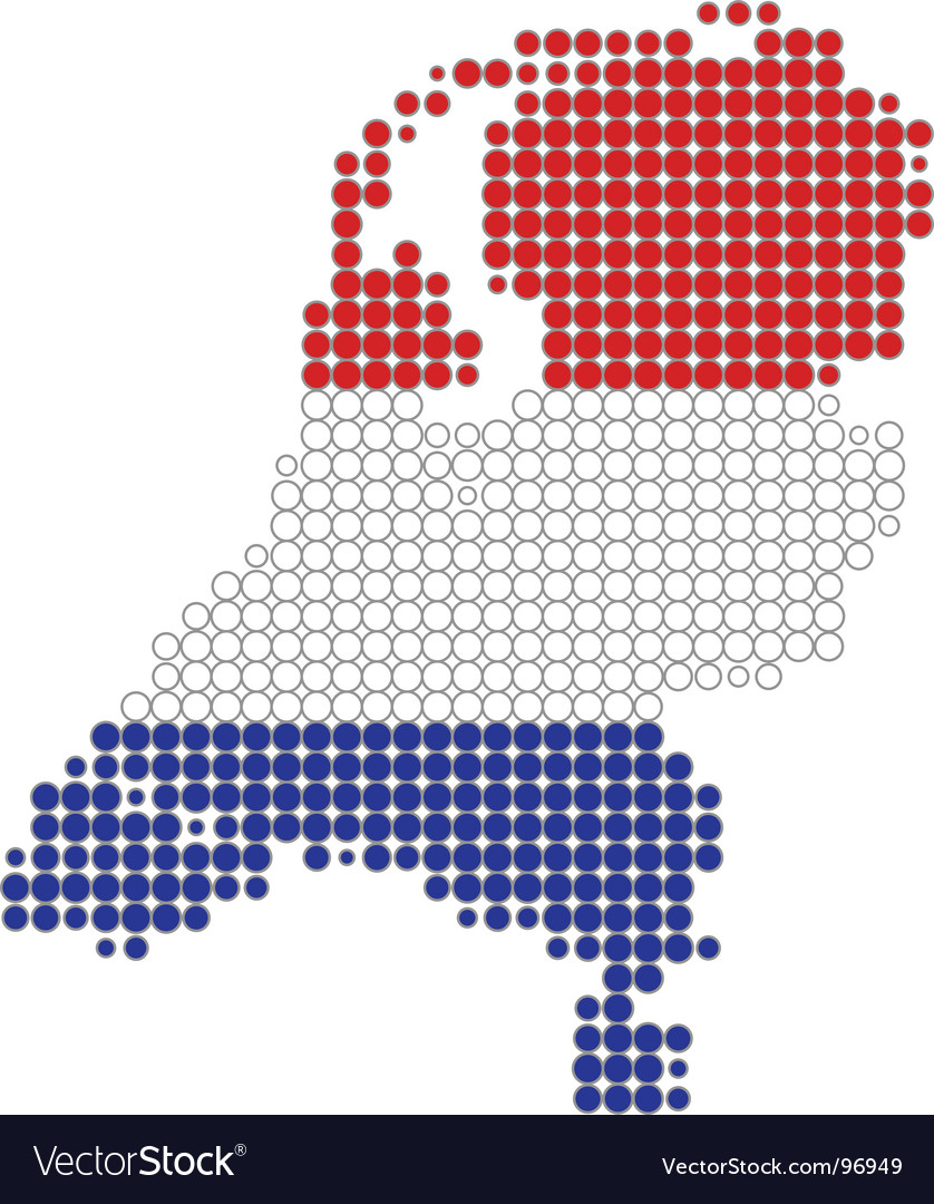 Netherlands map and flag Royalty Free Vector Image