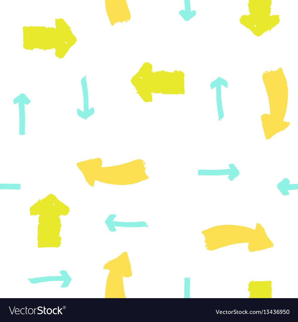 Paint drawn arrows vector image