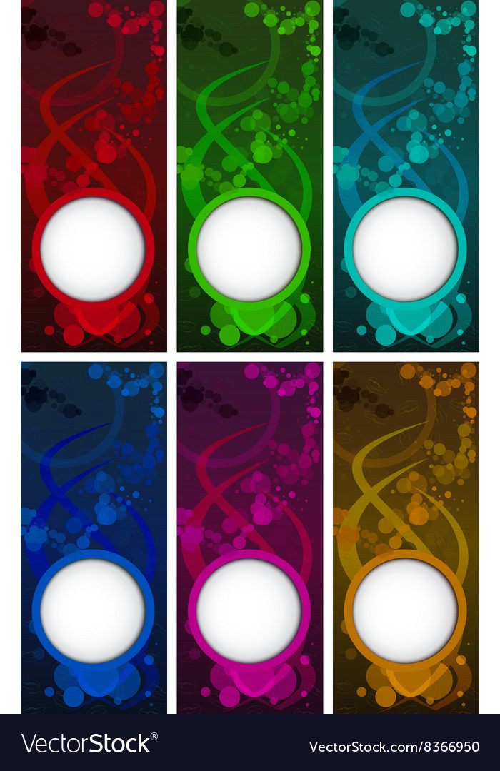 Set of colored blank templates for coffee vector image