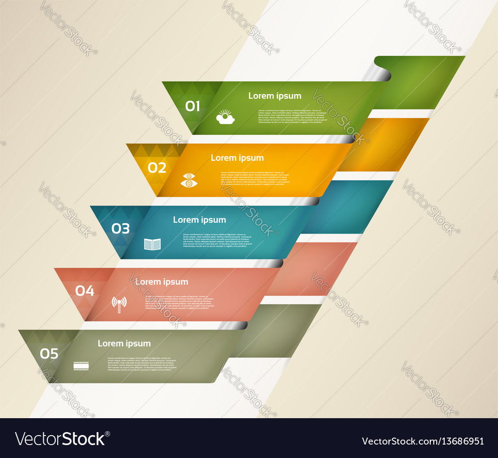 Modern infographics options banner with colorful p vector image